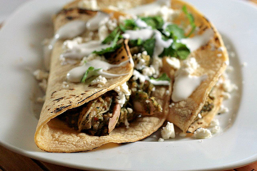 Recipe: Shredded Pork Tacos with Tomatilla Sauce