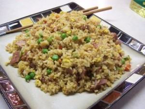 Recipe: Chinese ham and egg fried rice